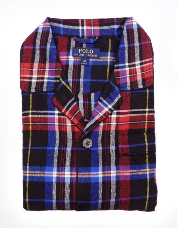 Pijama Polo Ralph Lauren Normandy Plaid para hombre. Franela en algodón muy suave y esponjoso, cuadros en distintos tonos de azul marino, rojo. #modaHombre #ropaInterior #hombre http://www.varelaintimo.com/categoria/40/pijamas