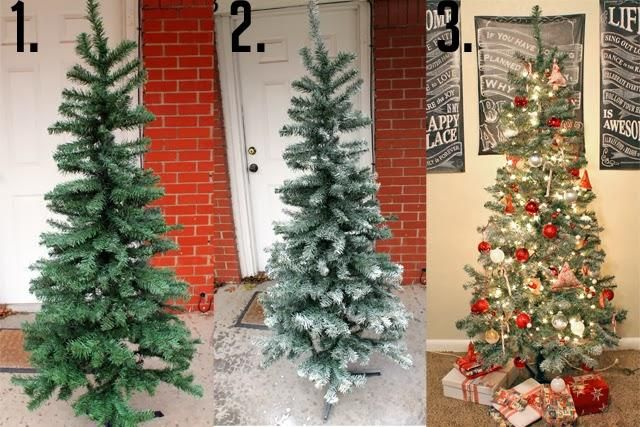 Snow Frosted Christmas Tree DIY