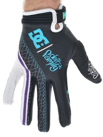 Deft Family Black Teal Catalyst 3 DC Collaboration MX Gloves | Deft Family | FreestyleXtreme
