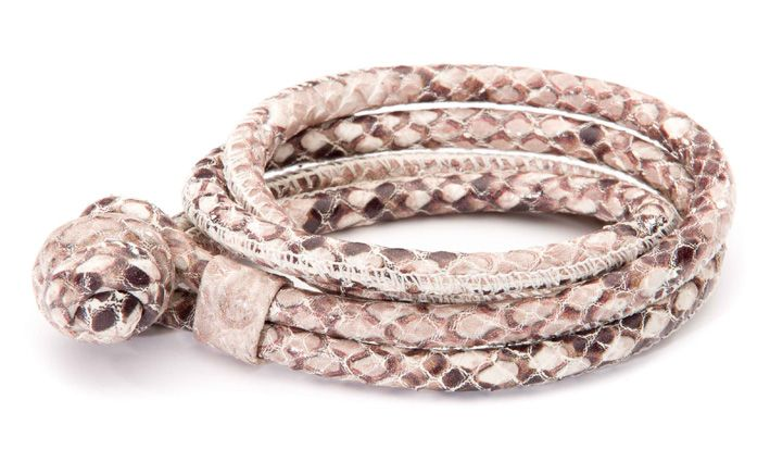 Joy de la Luz | Leather bracelet king python