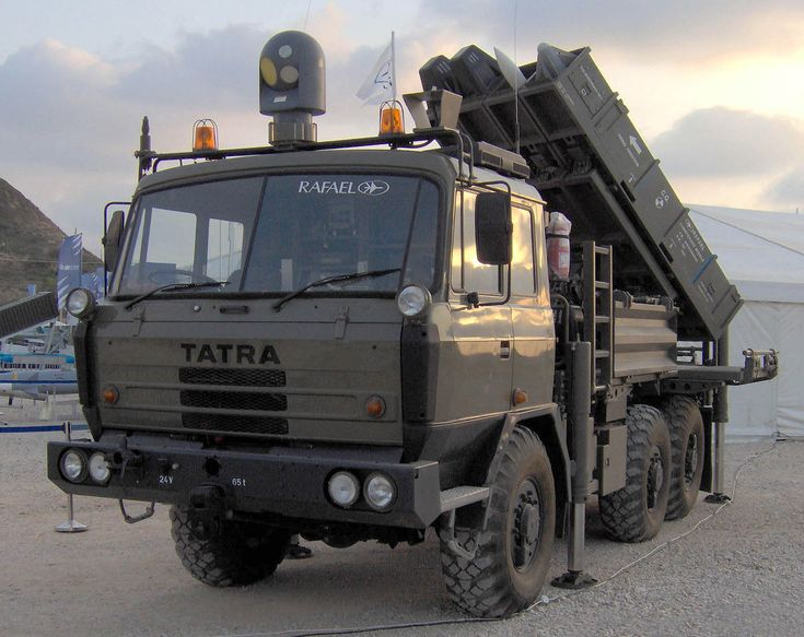 SPYDER (Surface-to-air PYthon and DERby) Surface-to-Air Missile System (Israel)