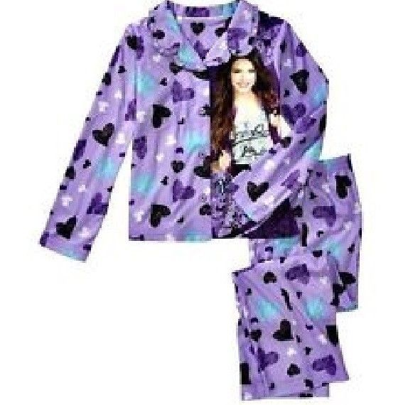 VICTORIOUS Pjs Set Girl's 7/8  NeW L/S BUTTON Shirt Top Pants Victoria Jackson #Nickelodeon #PajamaSet