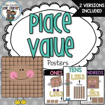 Place Value Posters: Base 10 Posters: Hundreds, thousands, tens and ones