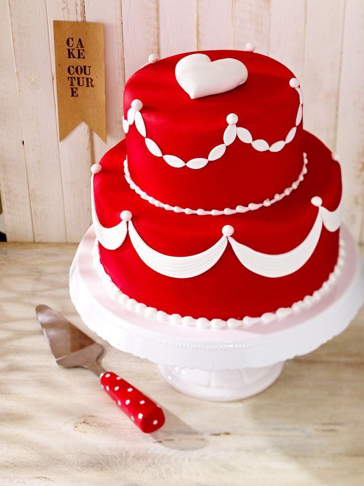 CakeCouture Torte Rot-Weiß Punkte - auch tolle Idee für eine Hochzeitstorte
