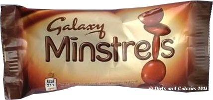 Galaxy Minstrels Chocolate Packet
