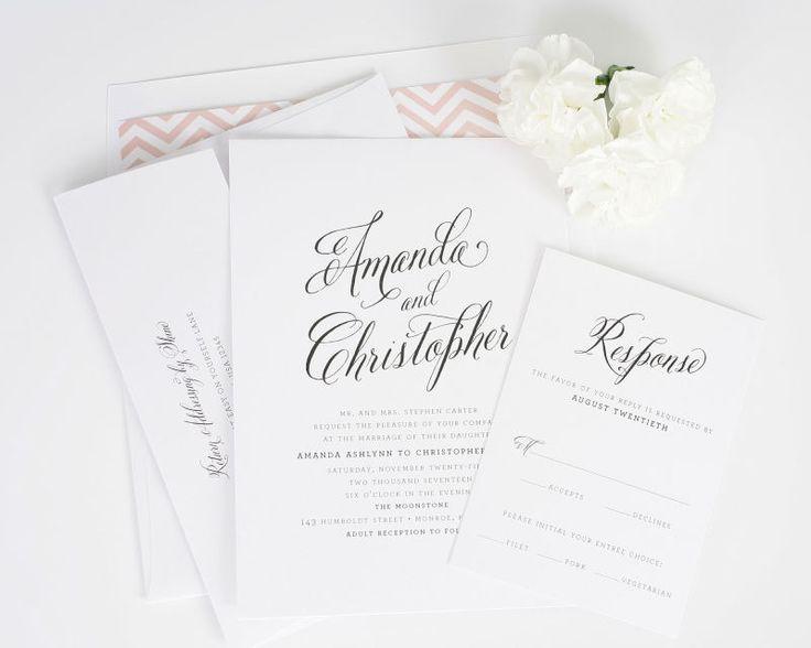 Rustic Modern Wedding Invitations - Wedding Invitations by Shine