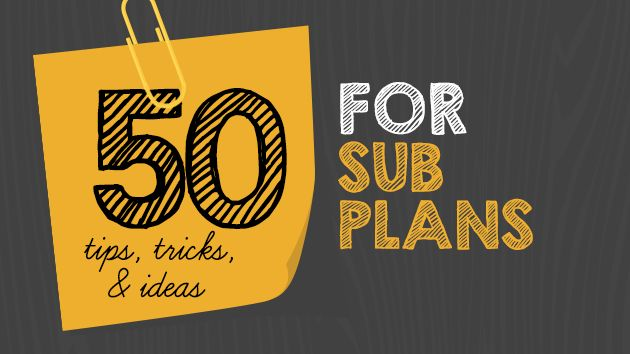 50 Tips, Tricks & Ideas for Substitutes