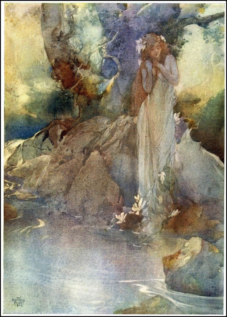 moncabinetdecuriosites: faerieshelf:   zasu: Illustration for opera Iolanthe by Sir William Russell Flint (English, 1880 - 1969) - via