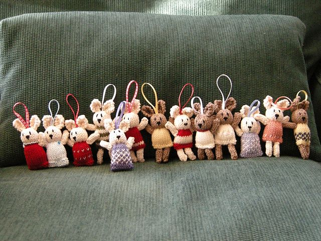 Ravelry: bear christmas tree decorations pattern by Little Cotton Rabbits