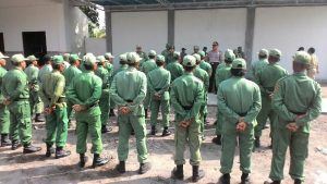 Kanit Binmas Polsek Tarik Polres Sidoarjo Hadiri Undangan Giat Pembinaan Linmas