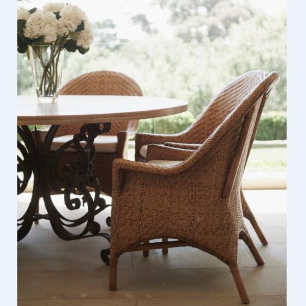 Raffles Chair Relaxed and sophisticated. The perfect dining chair or side chair. #hamptonsinteriors #hamptonstyle #armchair #diningchairs