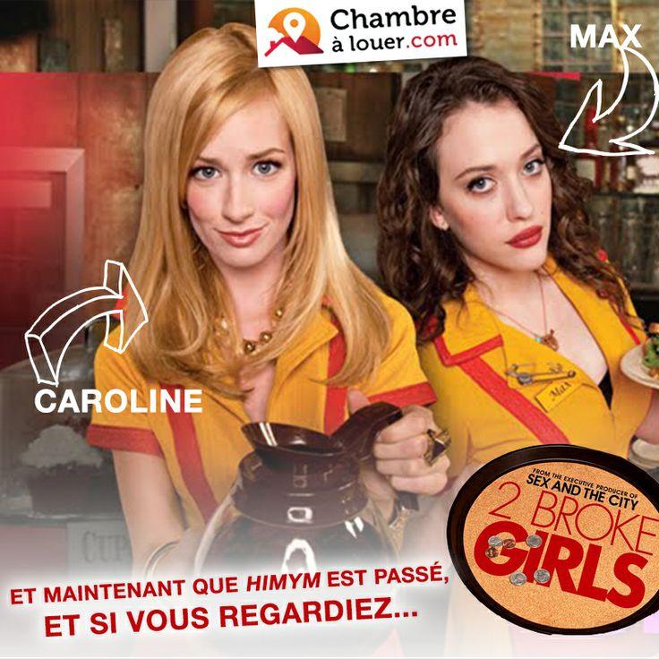 Les séries sur les colocations ne manquent pas ! Si HIMYM vous manque, pourquoi ne tenteriez-vous pas 2BrokeGirls ?  #2BrokeGirls #logement #serie