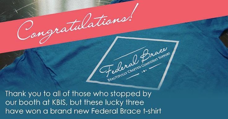 Congratulations to our T-shirt winners: Elie Haddad of One Stop Shop in Azusa CA Mario Vaughn from Gayosso's Construction from Costa Mesa CA and John Kidd from RW Kidd Construction in Warsaw IN. Be on the lookout for another chance to get a free gift at www.federalbrace.com - coming soon!