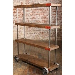 falling more and more in love with industrial shelving.