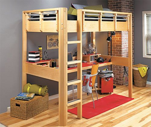 Best 25 loft bed desk ideas on pinterest bunk bed with for Study bed plans