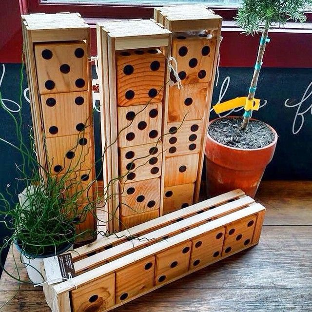 """#lawndice available at the #Carver  store! Perfect for #yahtzee or #drinkinggames this summer! Each die is approx 4""""x4"""" and the set includes the #woodcrate as well! $59 each. Will ship for addt'l $7.00! To purchase and have shipped, leave PayPal address in comment below. Must pay invoice within 24 hours."""