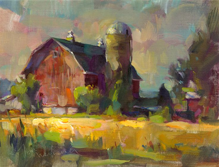 Egg_Harbor_Barn, Painting by Tom Nachreiner