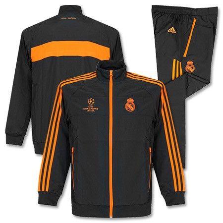 Chándal de Presentación del Real Madrid Champions League 2013 2014 - Gris/Naranja