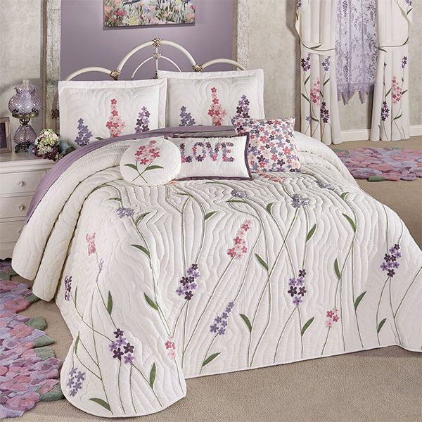 Wildflowers Floral Quilted Oversized Bedspread Bedding Bedroom Comforter Sets Bed Spreads Floral Bedspread