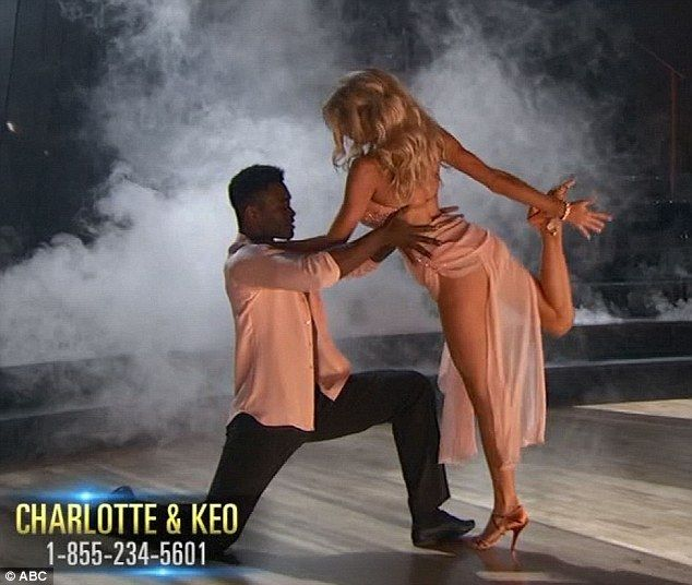 Latin night: The Carl's Jr commercial star and Keo Motsepe received low scores for their r...