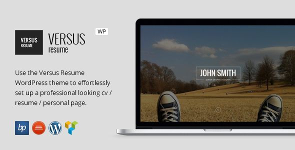 VERSUS Resume - Responsive CV WordPress Theme Wordpress, Website - wordpress resume template