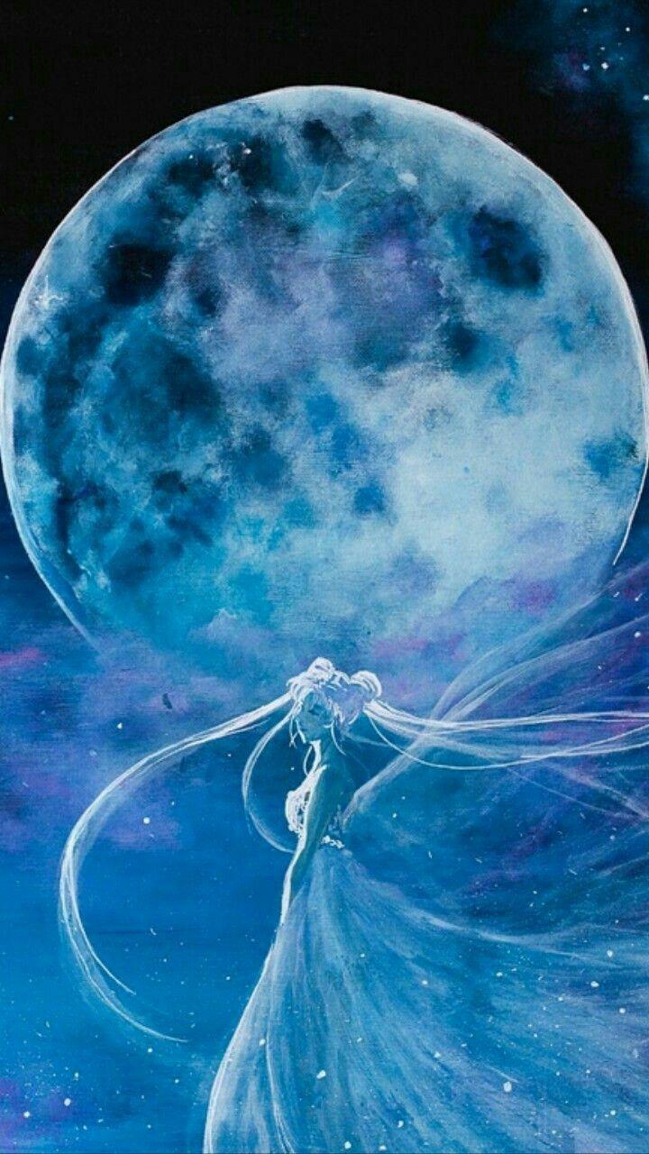 Princesa Serena Y La Luna Fondo De Pantalla De Sailor Moon