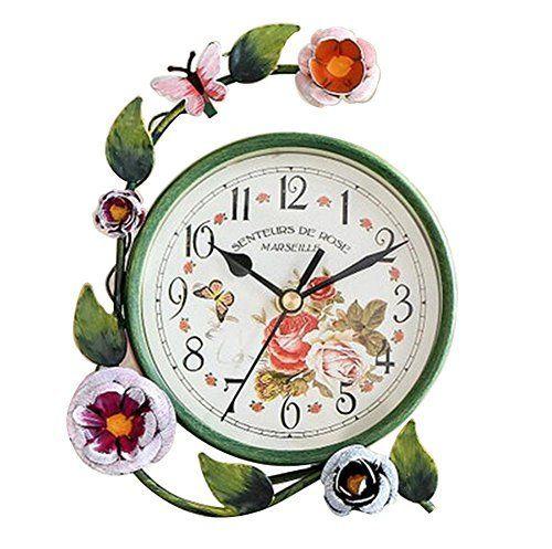 FUBARBAR Decorations Desk Shelf Clocks European Silent Bedroom Living Room Ornaments Garden Wrought Iron Small Desktop Clock  #Bedroom #Clock #clocks #Decorations #Desk #Desktop #European #FUBARBAR #garden #Iron #Living #Ornaments #Room #RusticMantelClock #Shelf #Silent #Small #Wrought The Rustic Clock