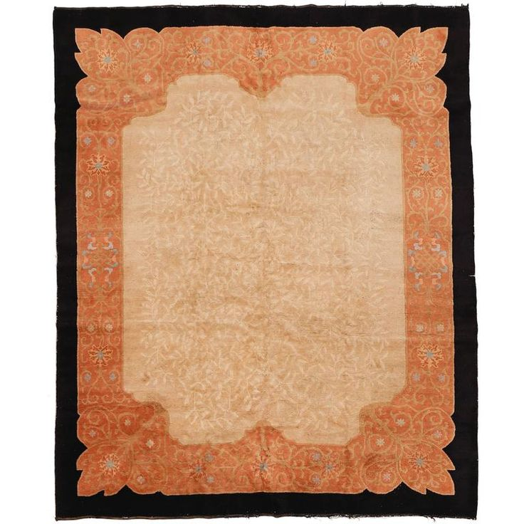 Art Deco Chinese Carpet by Helen Fette | From a unique collection of antique and modern chinese and east asian rugs at https://www.1stdibs.com/furniture/rugs-carpets/chinese-rugs/