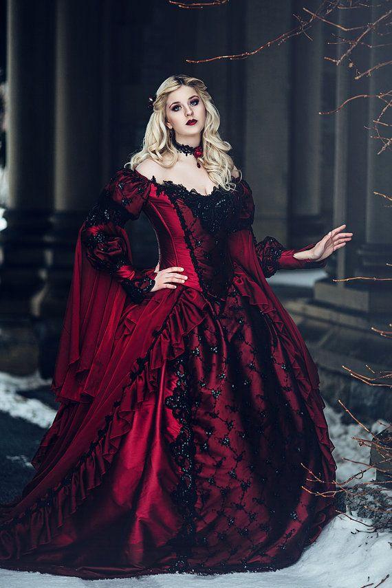 Gothique rouge de beauté endormie et Black par RomanticThreads