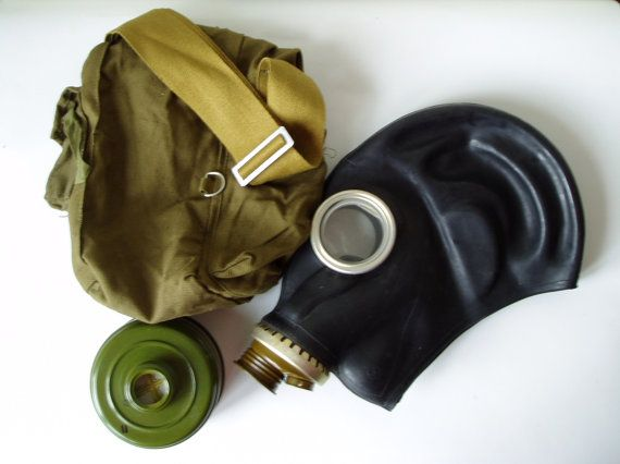 Russian Gas Mask GP 5 Soviet Vintage Unused USSR by MerilinsRetro, $19.00