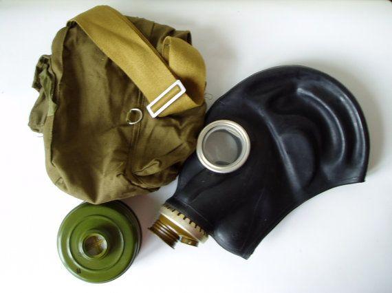 Russian Gas Mask GP 5 Soviet Vintage Unused USSR by MerilinsRetro, $19.00