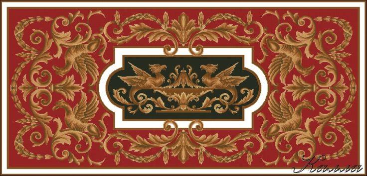 (101) Gallery.ru / Фото #2 - Схема для ковра с драконами - Kalla