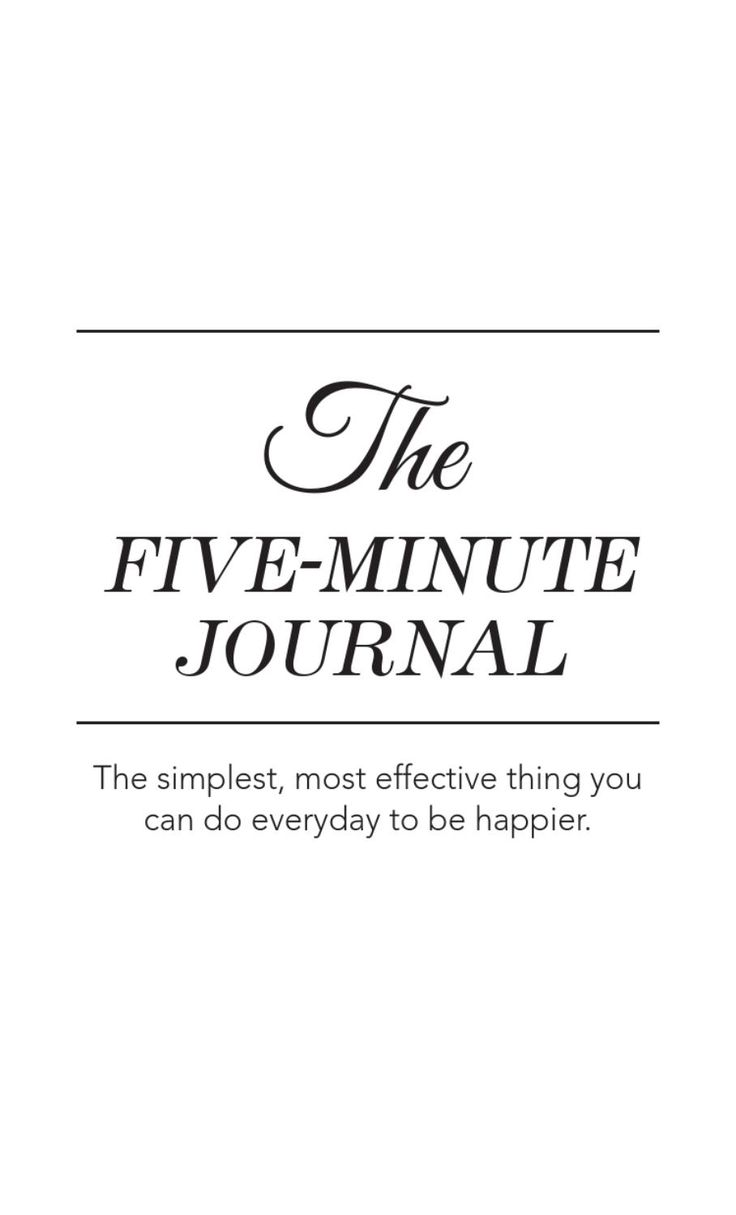 Five Minute Journal The five minute journal is a physical journal that has been carefully crafted to enable you to be happier in five minutes a day. A free ebook over 250 pages. Looks very easy & inspirational.