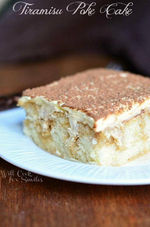 Tiramisu Poke Cake | willcookforsmiles.com