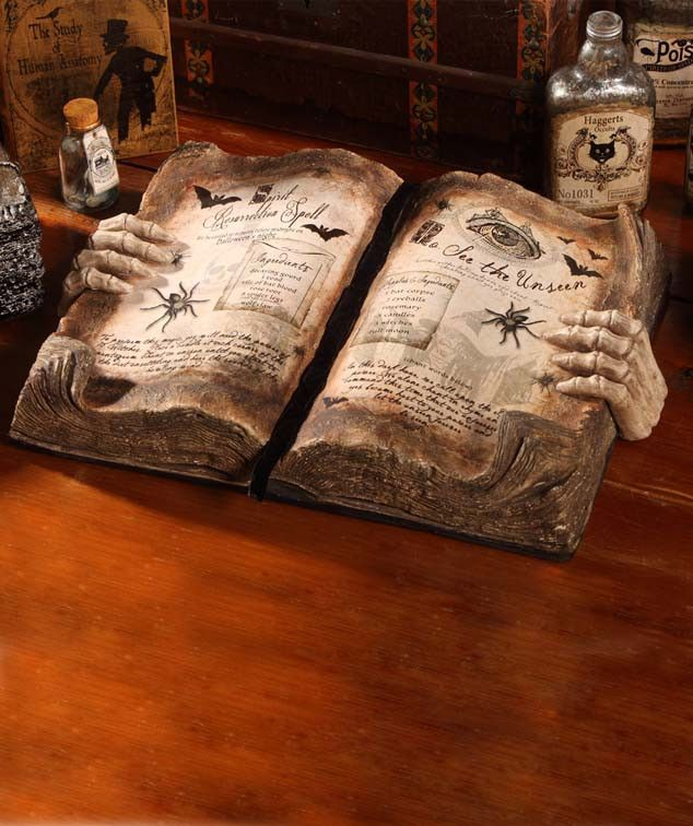 Grimoire Book Of Magic Halloween Texbook of Magic Spells - The Holiday Barn