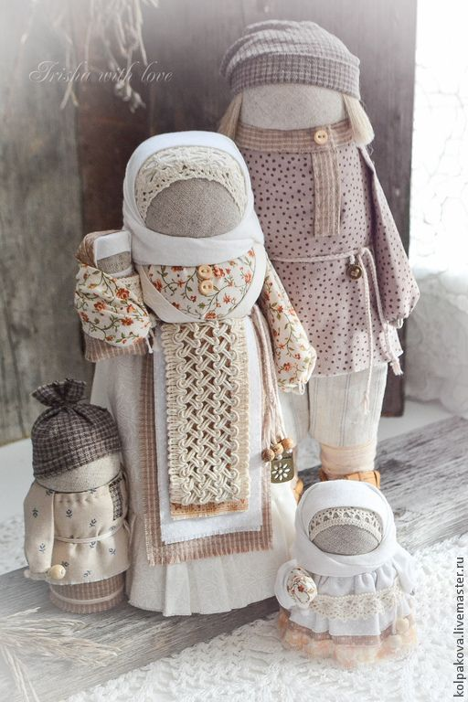 Народные куклы ручной работы. кукла-оберег Семья
