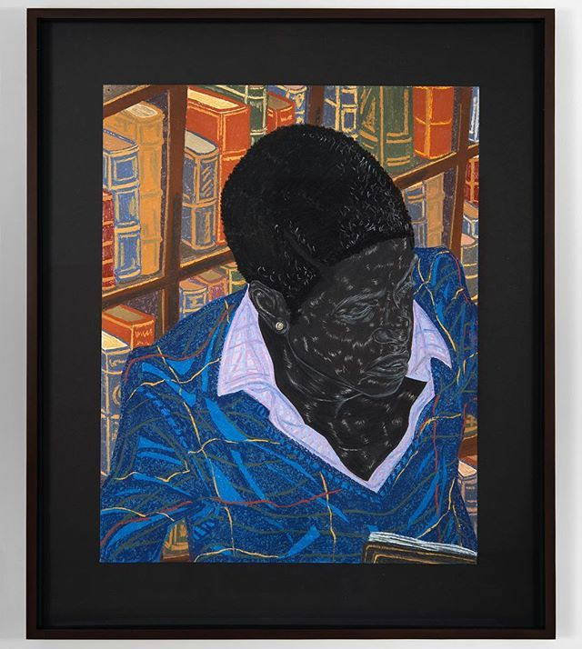"""The happiest of holidays to you and yours! 🎄// #ToyinOjihOdutola, """"Michaelmas Term,"""" 2016. // Part of the exhibition #AMatterOfFact on view @moad_sf until April 2, 2017."""