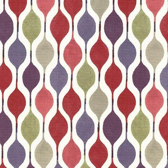 Red Purple Geometric Upholstery Fabric Modern Red Roman