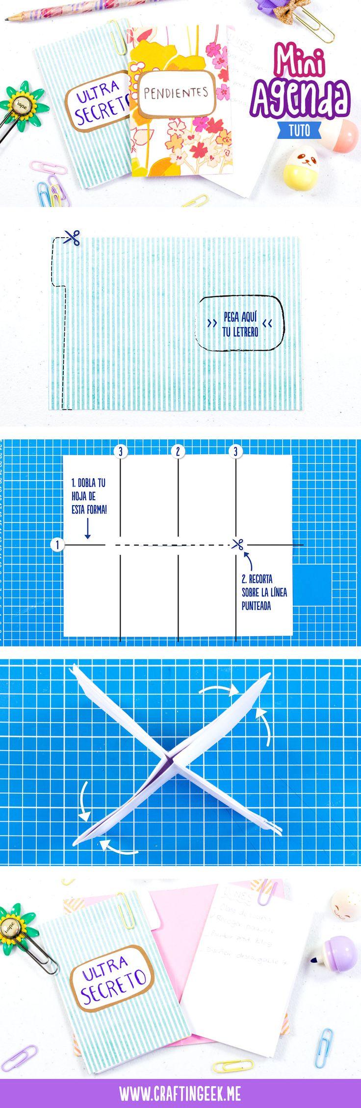 Mini agenda de hoja reciclada