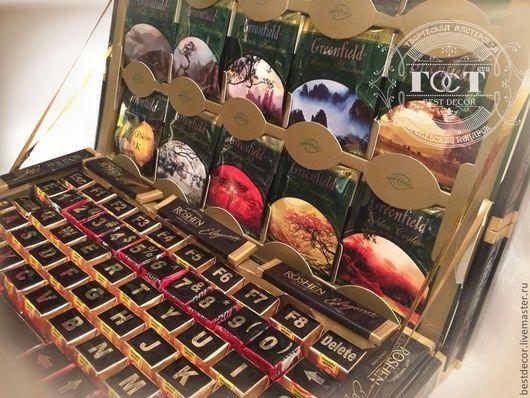 Персональные подарки ручной работы. Chocobook (ноутбук из шоколада и конфет). Елена (bestdecor). Ярмарка Мастеров. Компьютер, шоколад, фотобумага