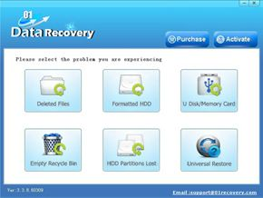 01recovery - recovery of any file formats and supports different brands and capabilities of USB drives