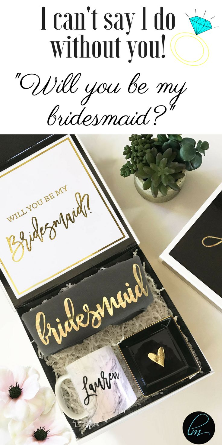 Will you be my bridesmaid? The perfect bridesmaid gift and bridesmaid proposal idea! #willyoubemybridesmaid #bridesquad #bridesmaidproposal #bridesmaid #bridesmaids