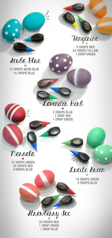 How to dye Easter eggs with food color: Love that McCormick's is offering up hot Pantone colors!