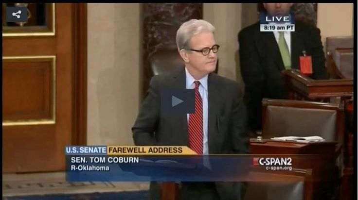 Tom Coburn Reminds Senators Of Their Duty. Our charge is to protect the future of our country by upholding the Constitution and ensuring the liberty that's guaranteed there is protected and preserved. Read more at http://www.westernjournalism.com/tom-coburn-reminds-senators-duty-farewell-speech/#v1c6GcJfGM2gwKWL.99