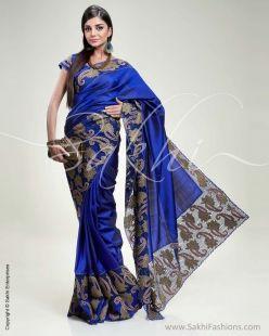 Blue & Antique Kanchivaram Silk Saree