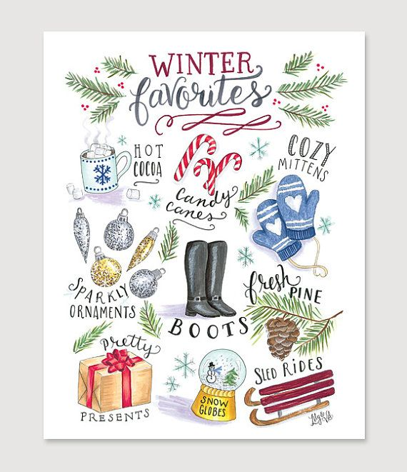 Modern Christmas Decoration - Winter Wall Decor - Illustration Art - Holiday Print - Christmas Decor - Modern Christmas Print