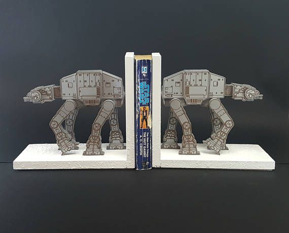 Superior Star Wars AT AT Bookend Set   Free US Shipping   Laser Engraved Book Ends