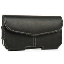 Black Envelope Design Faux Leather Holster Case w/ Fixed Belt Clip (SAM961) for Samsung Galaxy IV / S4 Android 4.2 Smartphone + NTech N4000 Universal Holder Mount and Charger + SumacLife TM Wisdom Courage Wristband