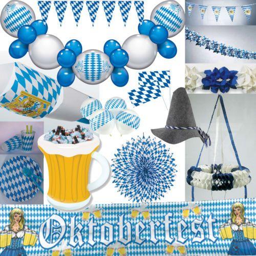 details zu oktoberfest dekoration bayern party bavaria blau weiss bayrische deko set mass. Black Bedroom Furniture Sets. Home Design Ideas
