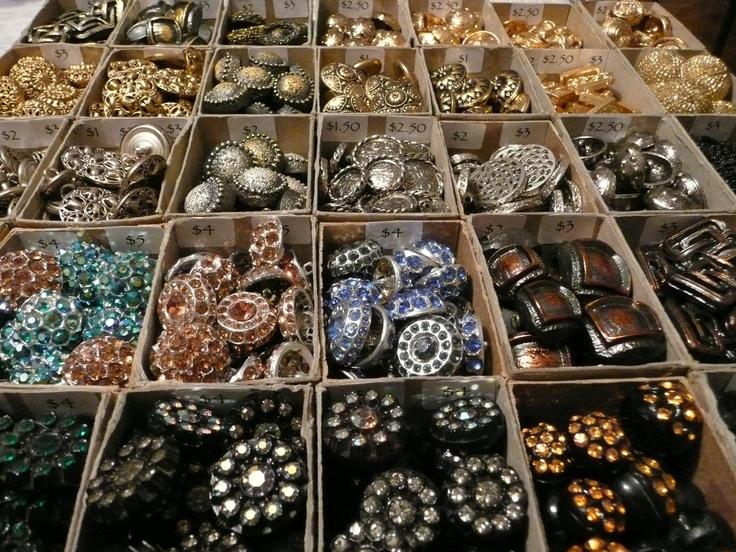 Vintage buttons, glitz